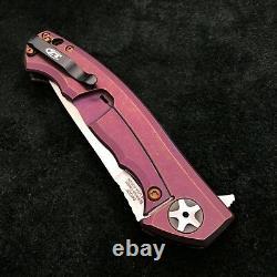Zero Tolerance ZT 0452CF Plain Edge Folder BWL Purple Ano custom zt452cf